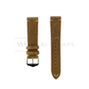Tan Vintage Leather Watch Strap Front