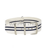 White & Blue Regimental NATO Strap Round