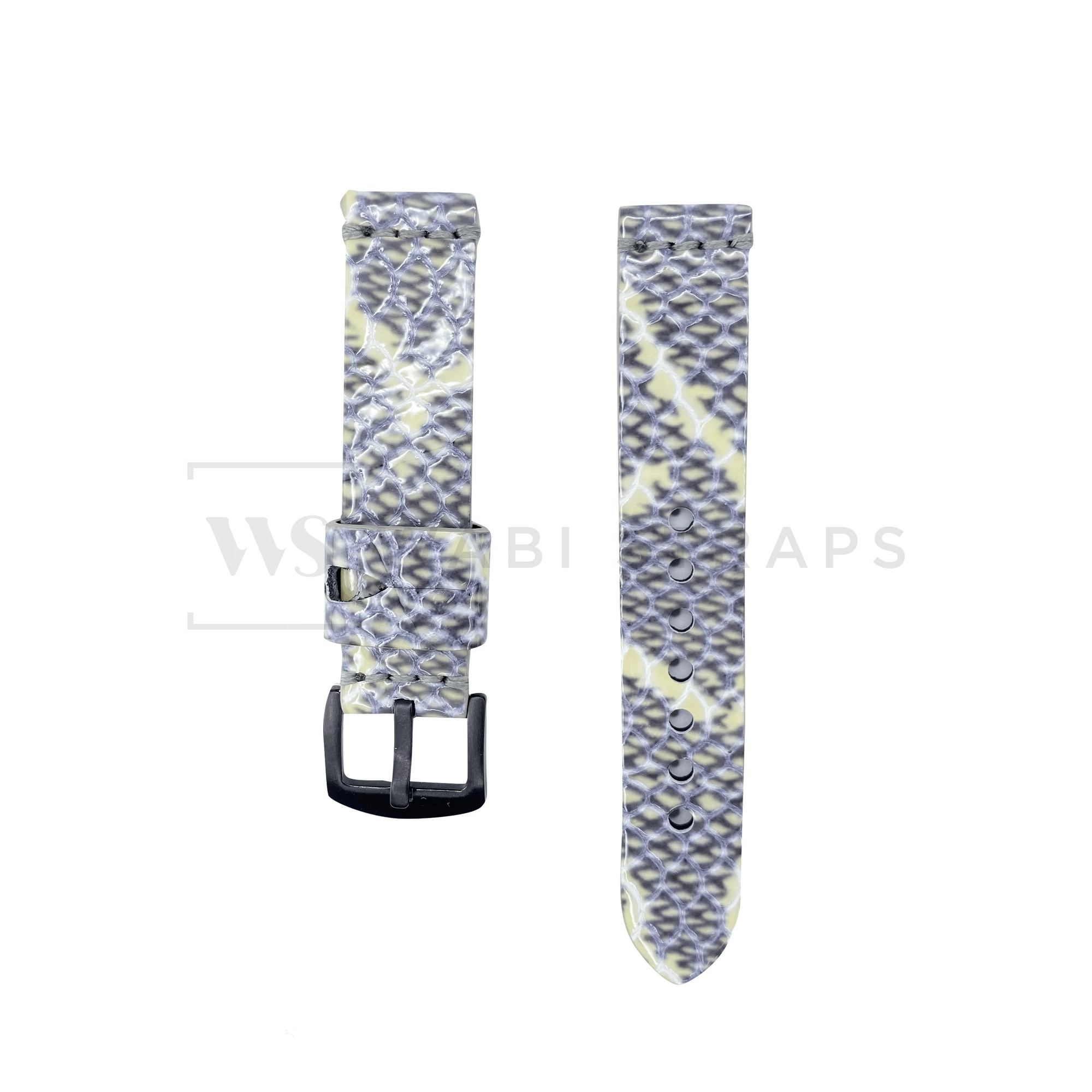 White Shark Rubber Watch Band Front