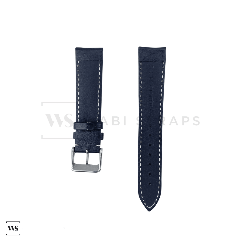 White Stitched Classic Black Leather Strap SS Front