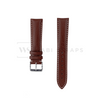 White Stitched Classic Brown Leather Strap SS Front