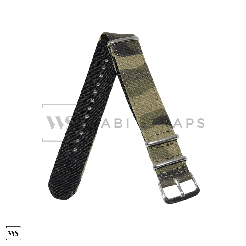 Woodland Tactical Canvas NATO Strap Round