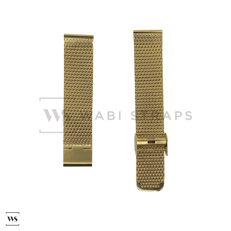 Gold Mesh Watch Bracelet Round