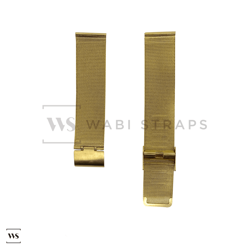 Yellow Gold Milanese Watch Band Round