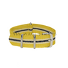 Yellow, Ivory & Black Regimental NATO Strap Round