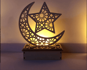 Crescent Moon Islamic Lighted Decoration