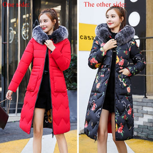 Hooded 2 in 1 Reversible Women's Coat