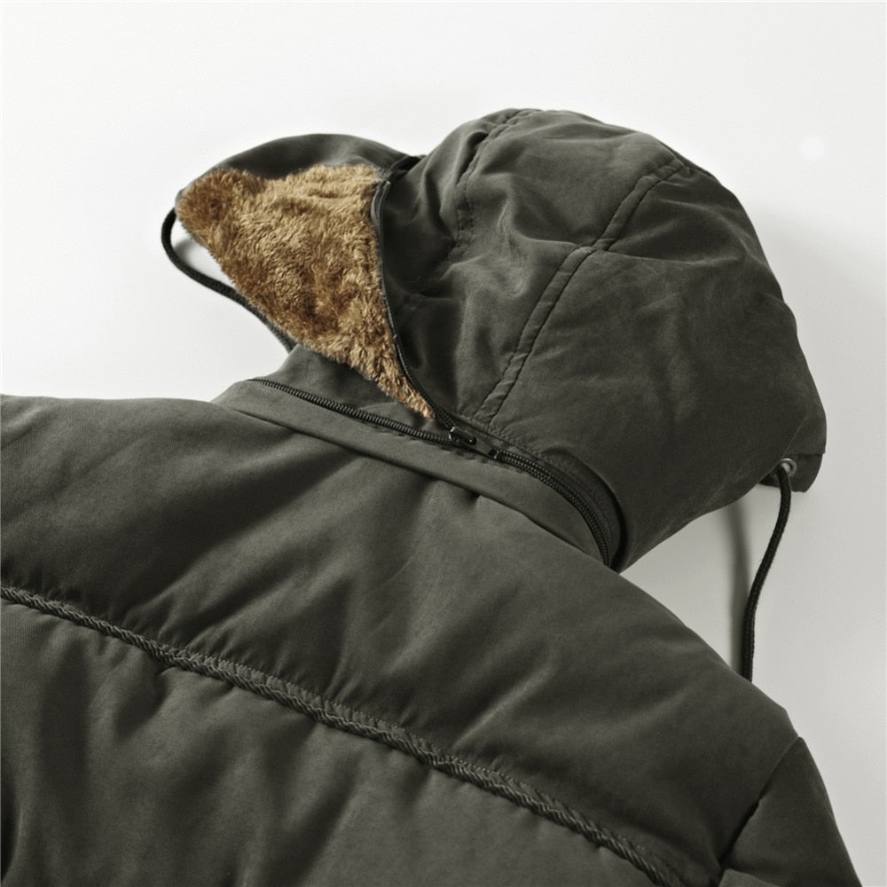Thick Lined Men's Winter Coat