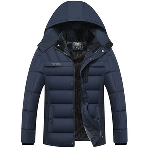 Thick Lined Men's Puffer Coat