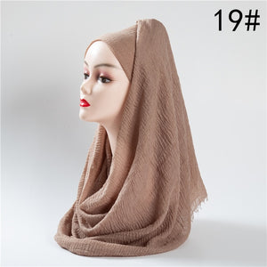 Solid Color Cotton Crinkle Hijab