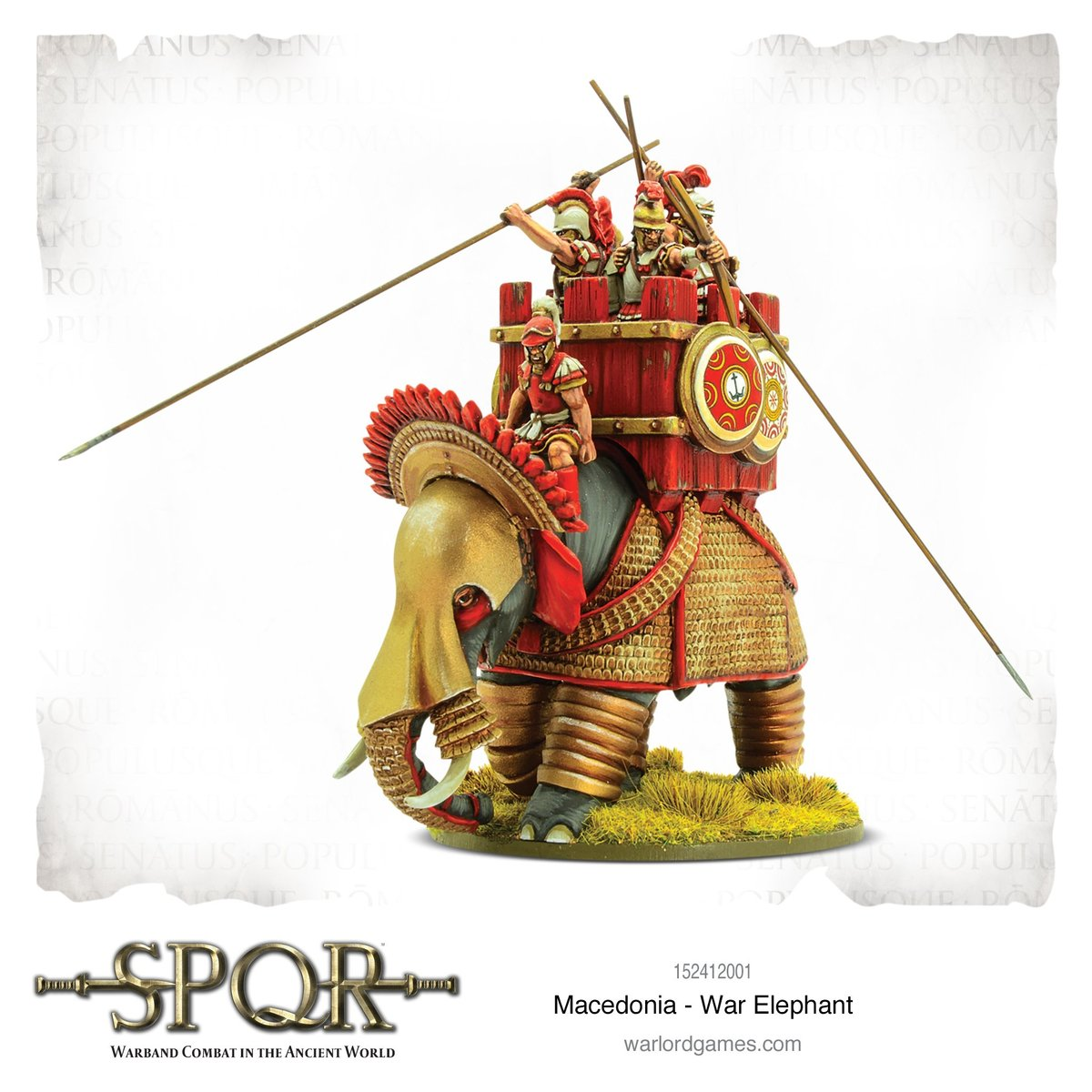 Detailed SPQR Macedonian War Elephant Miniature from Warlord Games