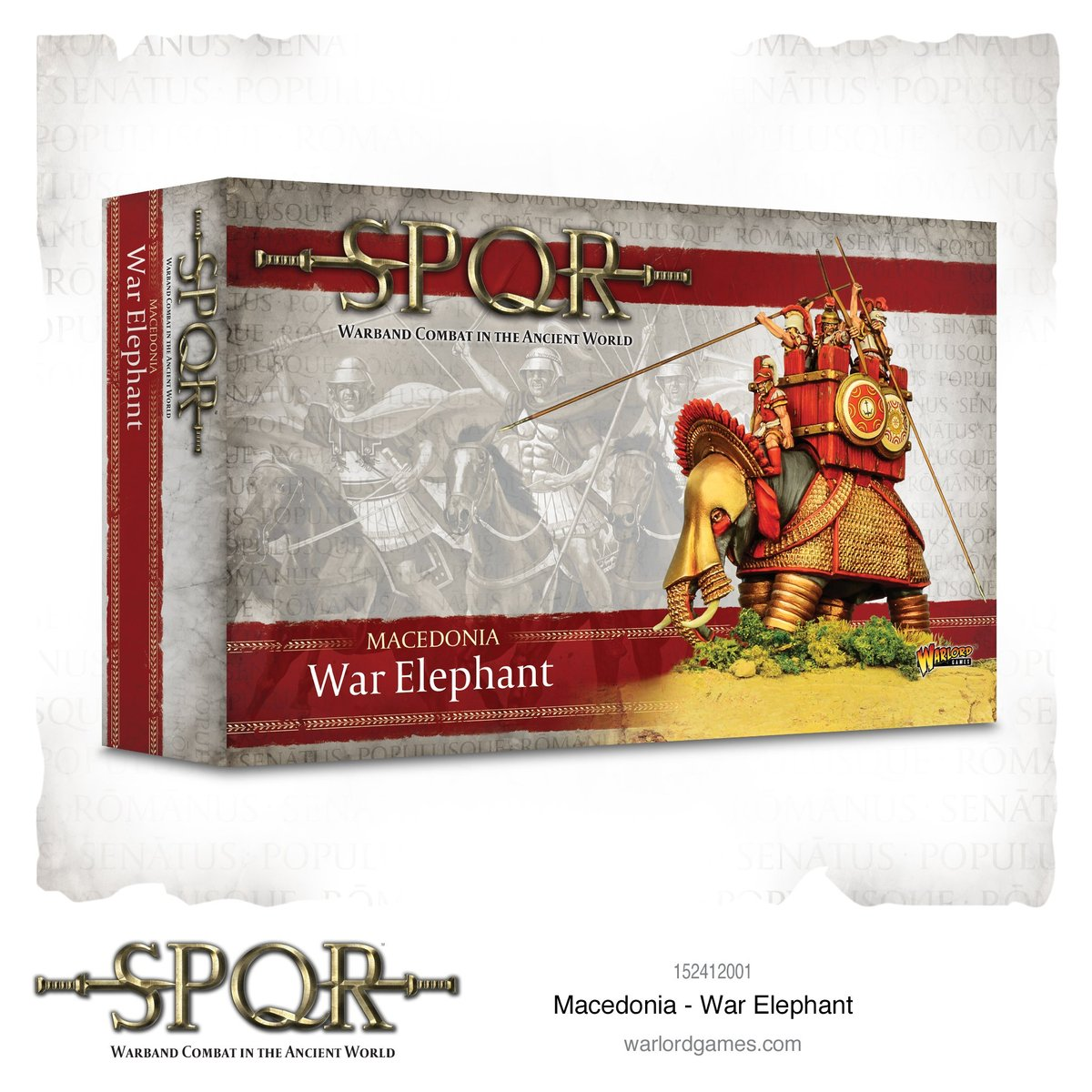 Box containing 1 SPQR Macedonian War Elephant from Warlord Games