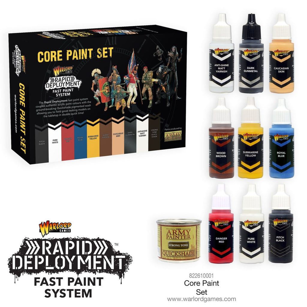 Warlord Core Paint Set - used for Rapid Deployment painting technique