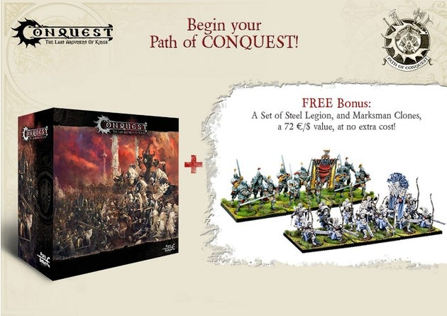 Begin Your Path To Conquest - 2 Player Starter Set Bundle
