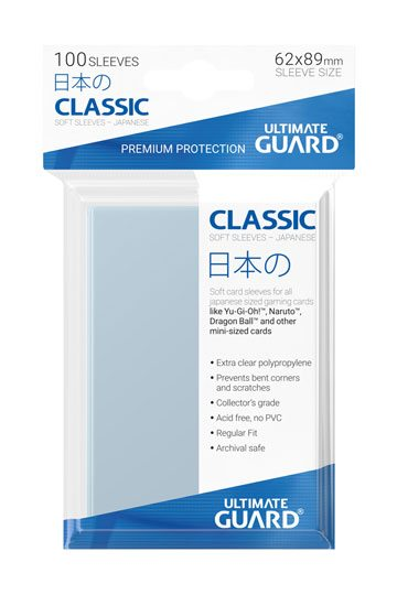 Ultimate Guard Classic Soft Sleeves - Japanese Size x100 (Transparent)
