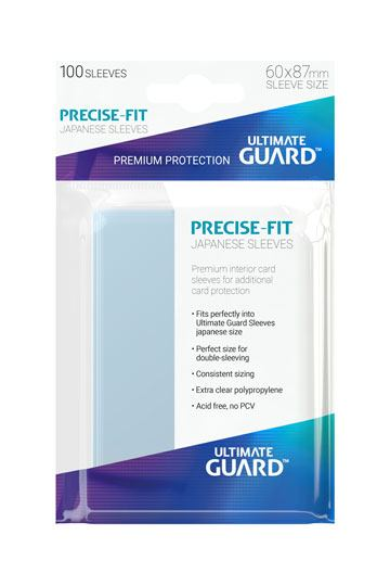 Ultimate Guard Precise Fit Sleeves - Japanese Size x100 (Transparent)