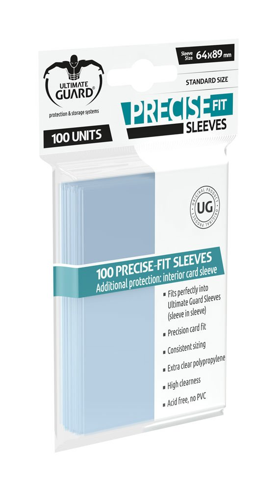Ultimate Guard Precise Fit Sleeves - Standard Size x100 (Transparent)