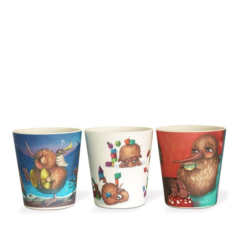 Kuwi Bamboo Cups (Set of Three) Meal Time Kuwi