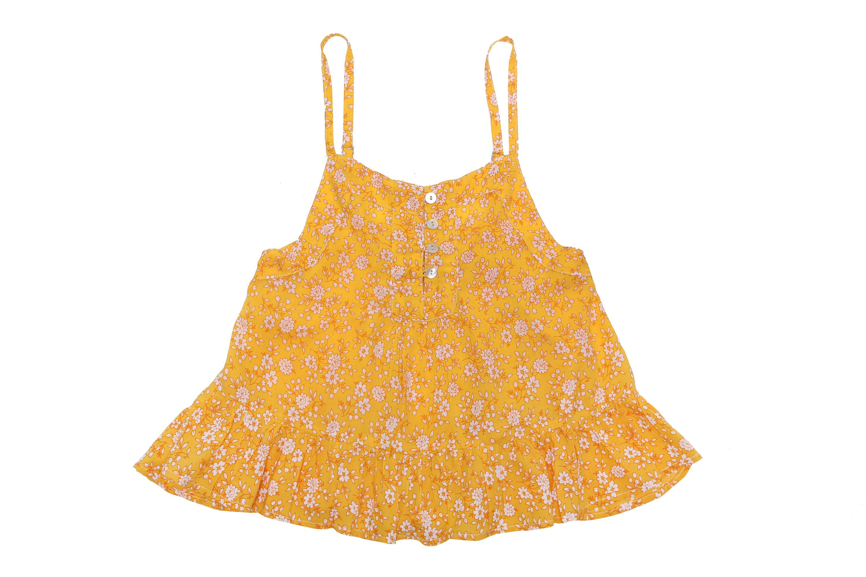 Coco and Ginger - Bijou Top - Yellow Whisper Girls Coco and Ginger