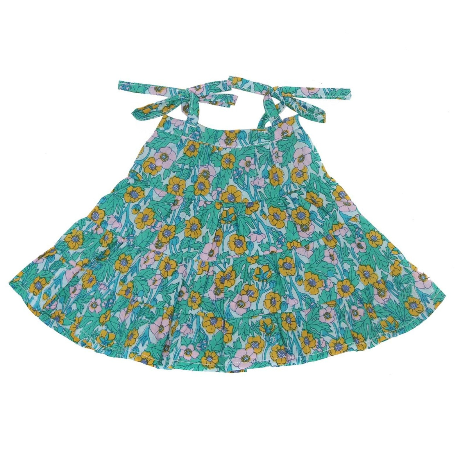 Coco and Ginger - Doll Dress - April - Hibiscus Spring Girls Coco and Ginger