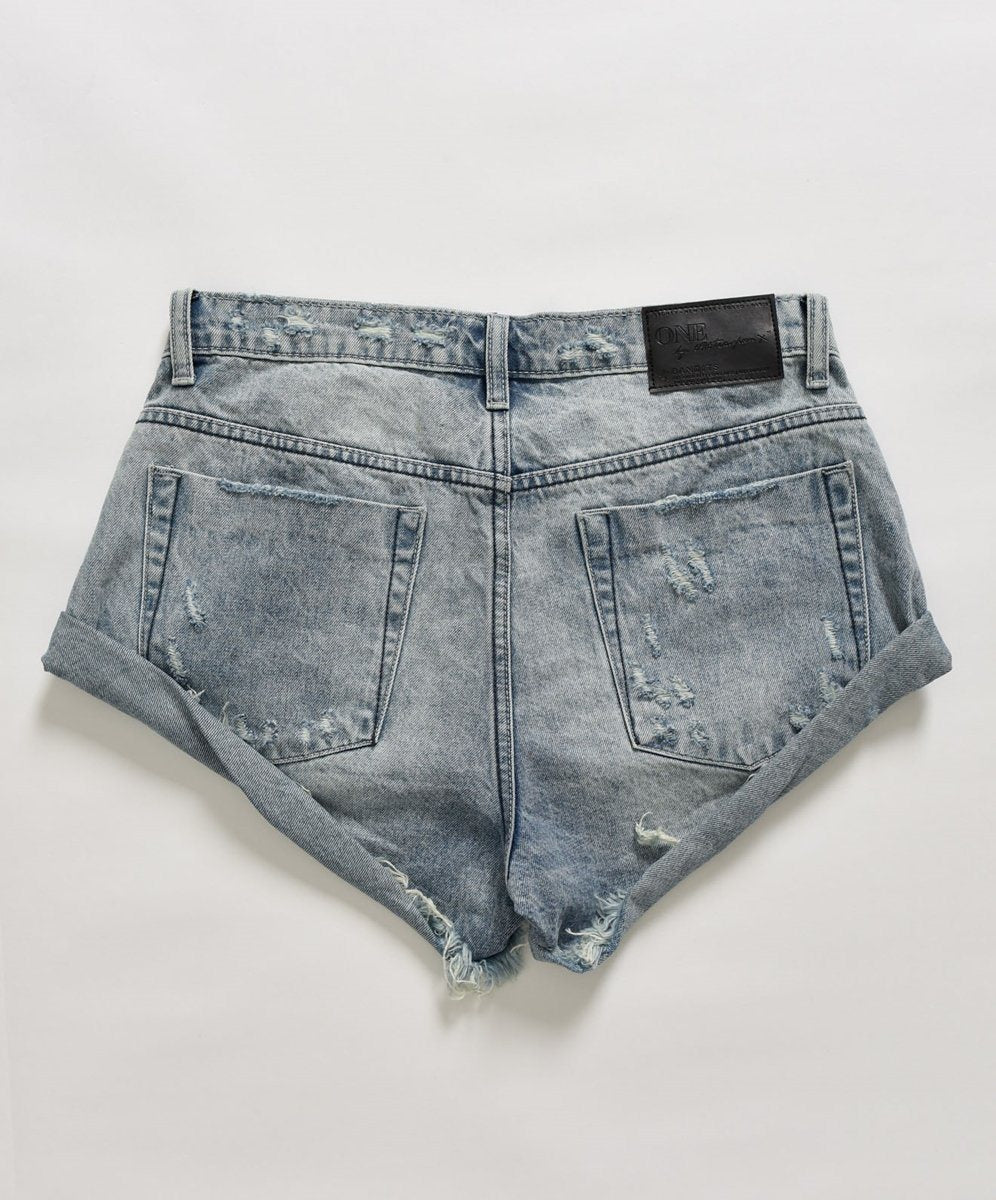 ONETEASPOON - Bandits Denim Short - Salty Dog Womens ONETEASPOON