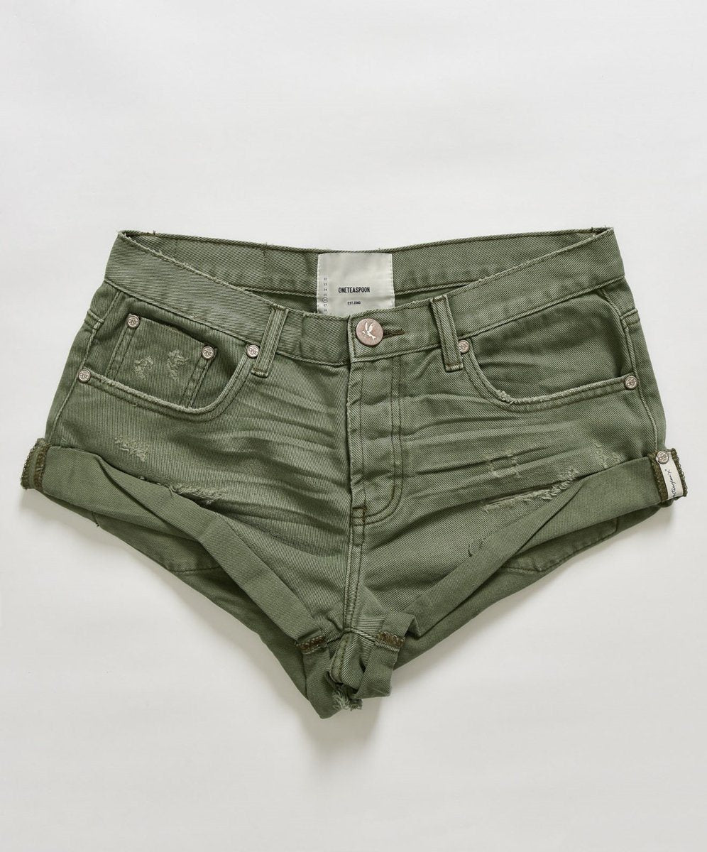 ONETEASPOON - Bandits Denim Short - Super Khaki Womens ONETEASPOON