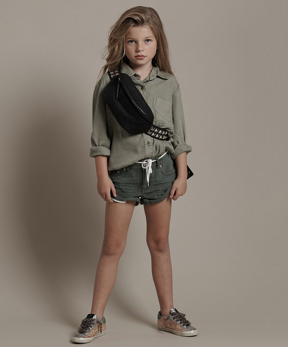 One Teaspoon Kids - Bandit Denim Short - Vintage Khaki bottoms ONETEASPOON
