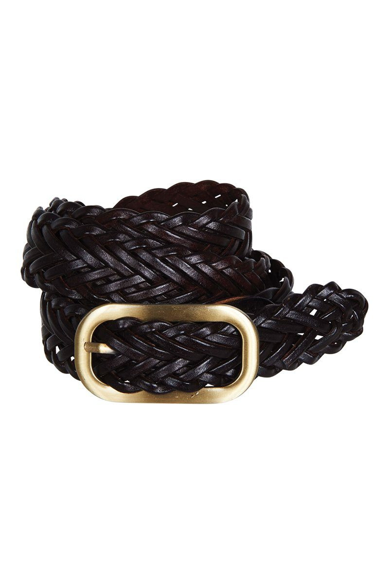 eb&ive - Avante Leather Belt - Chocolate Womens eb&ive