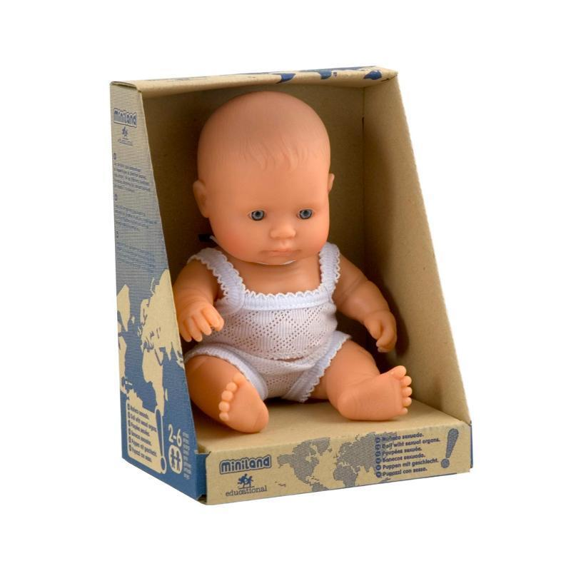 Miniland - Anatomically Correct Baby Doll - Caucasian Girl 21cm Toys Miniland Educational