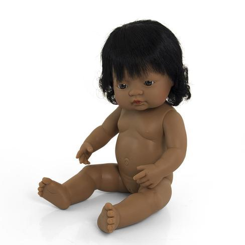 Miniland - Anatomically Correct Baby Doll - Hispanic Girl 38cm Toys Miniland Educational