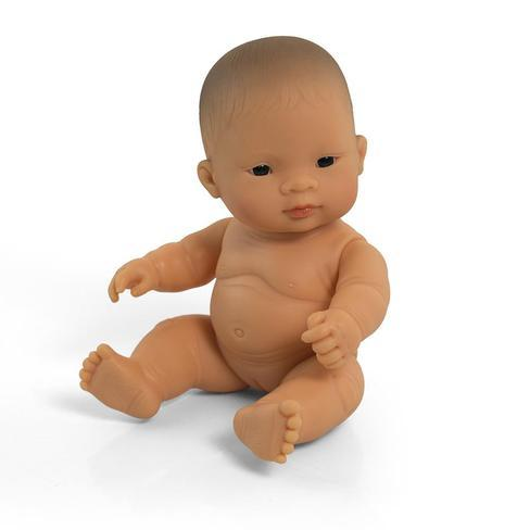 Miniland - Anatomically Correct Baby Doll - Asian Girl 21cm Toys Miniland Educational