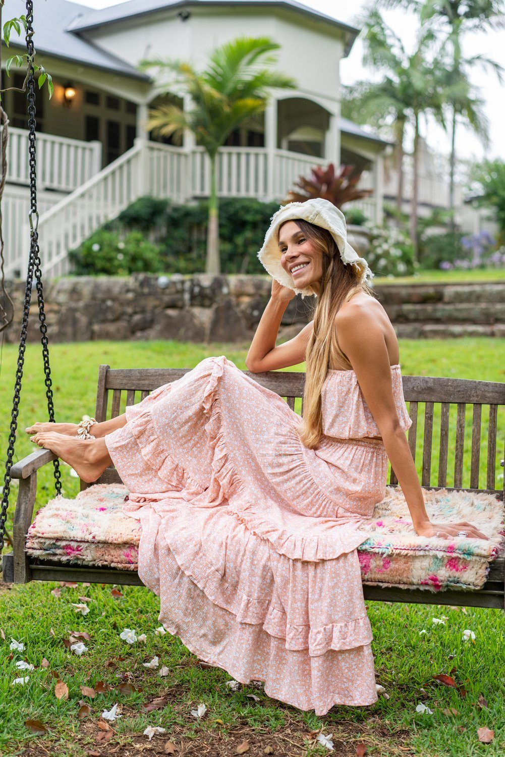 Barefoot Blonde - Coco Tube Top - Peach *** PRE ORDER / DUE LATE FEB *** Womens Barefoot Blonde