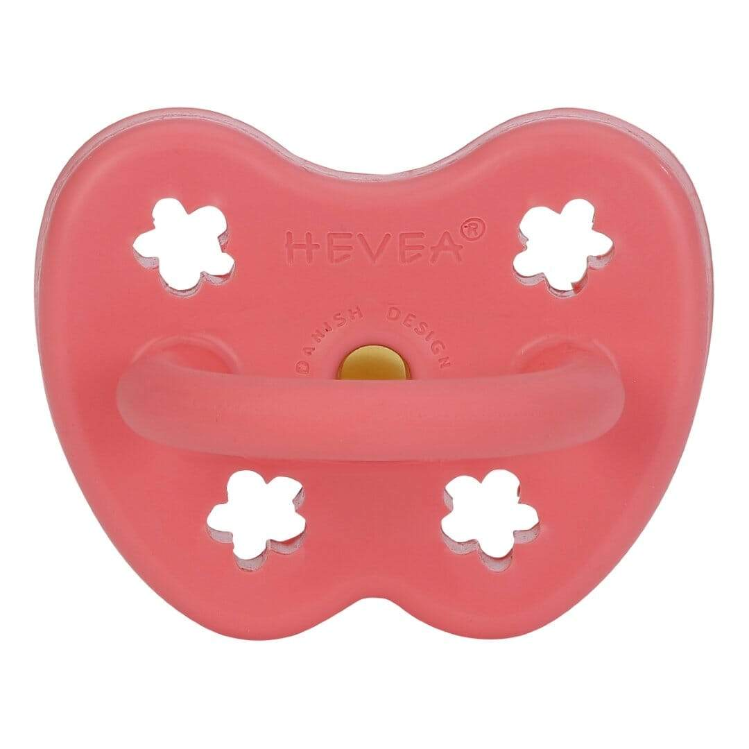Hevea - Orthodontic Pacifier 3+mths - Coral Baby Hevea
