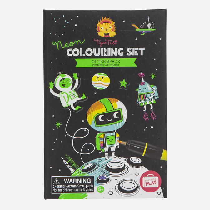 Tiger Tribe - Neon Colouring Set - Space Gifts Tiger Tribe