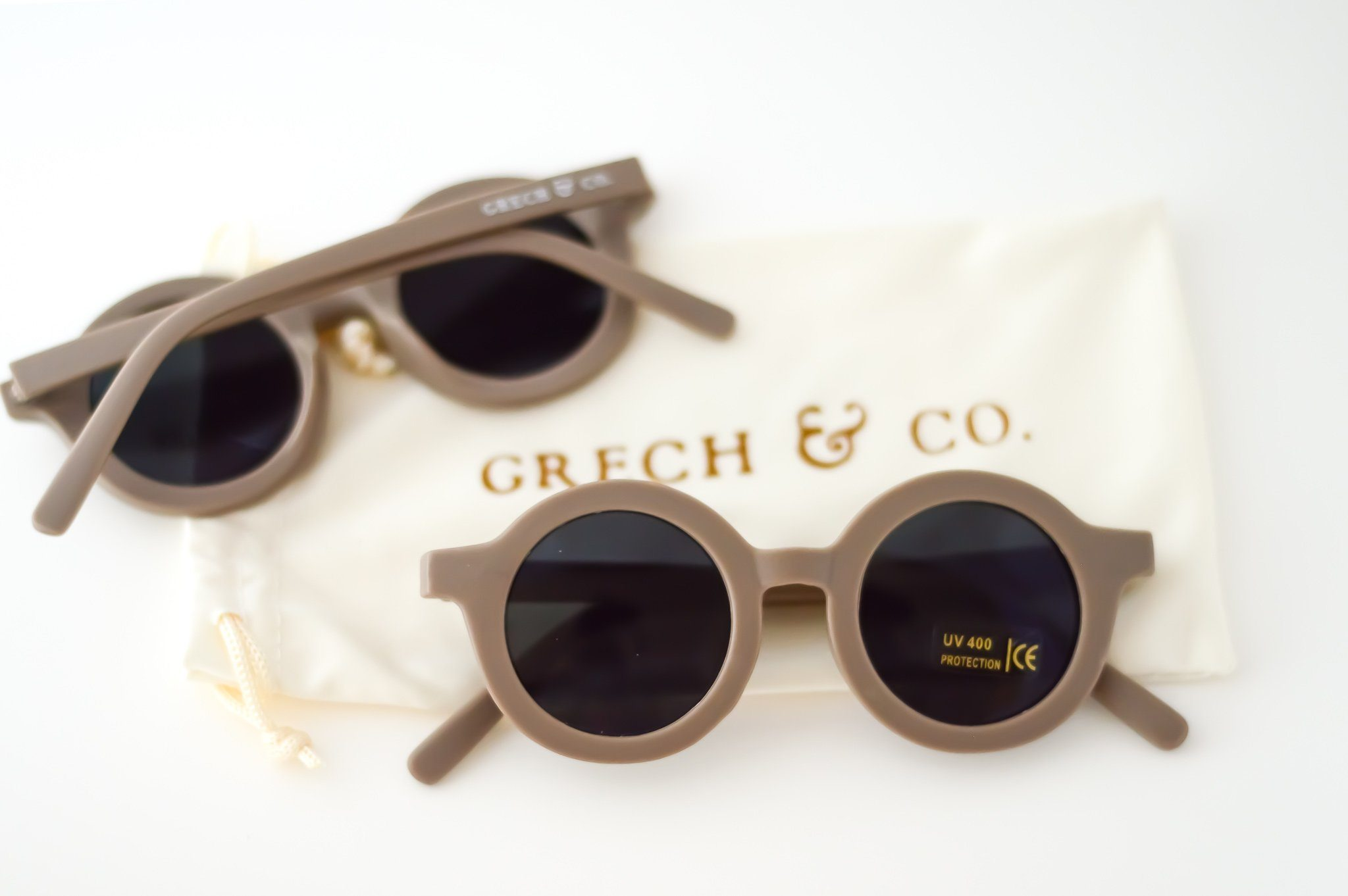 Grech and Co - Sustainable Kids Sunglasses - Stone Girls Grech and Co.