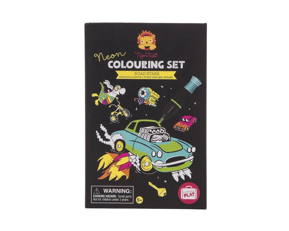 Tiger Tribe - Neon Colouring Set - Road Stars Gifts Tiger Tribe