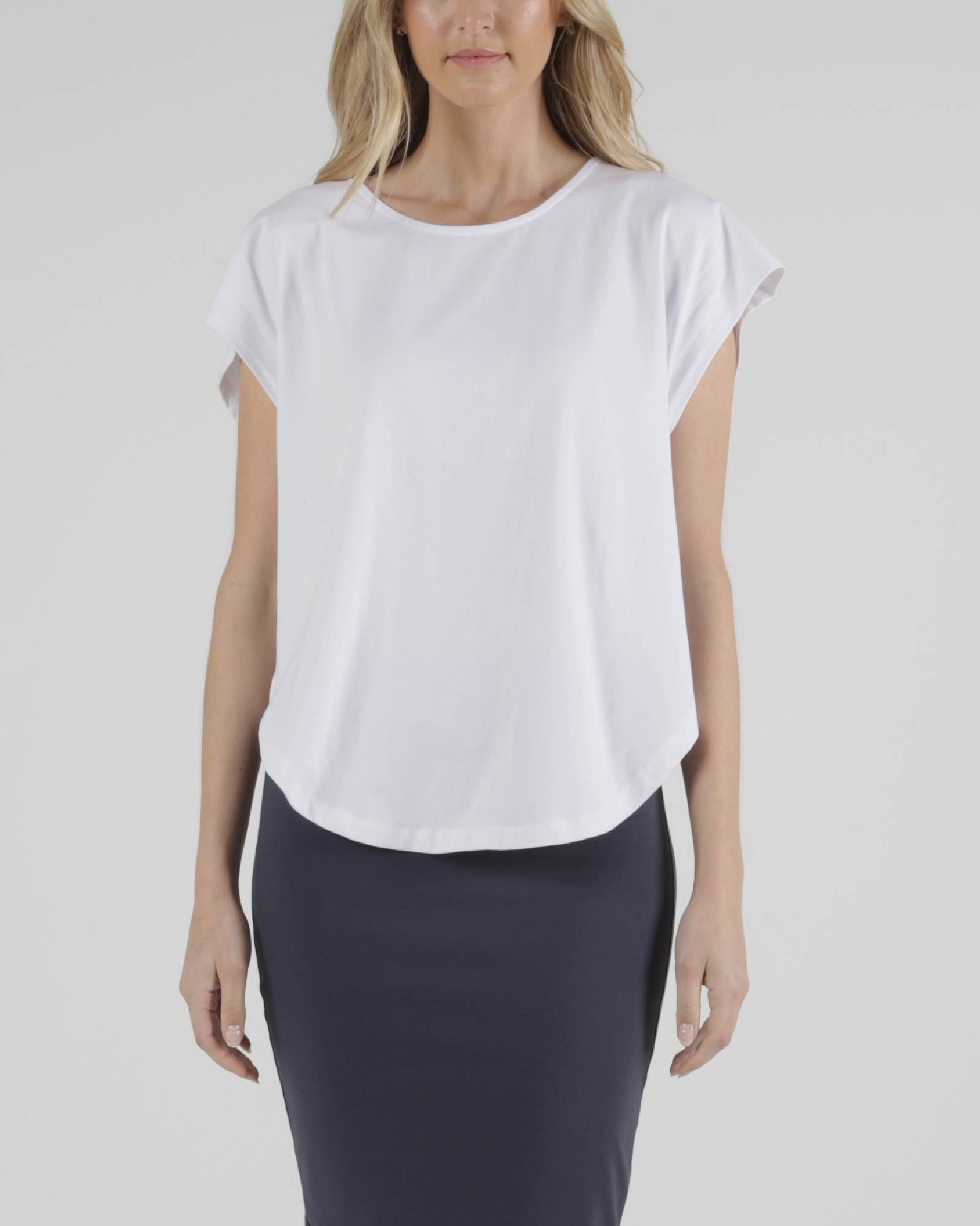 Betty Basics - Tulip Top - White Womens Betty Basics