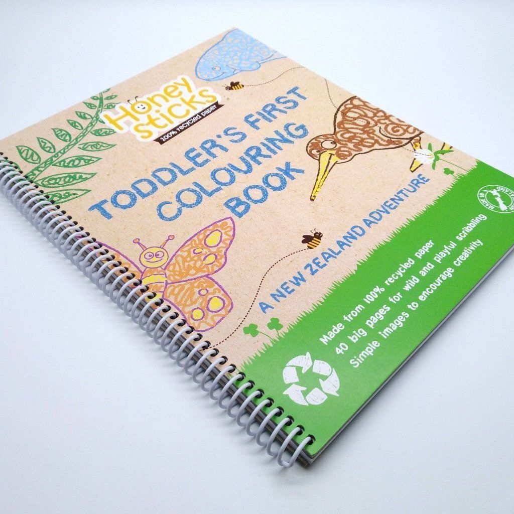 Toddler's First Colouring Book - A New Zealand Adventure Books Honeysticks
