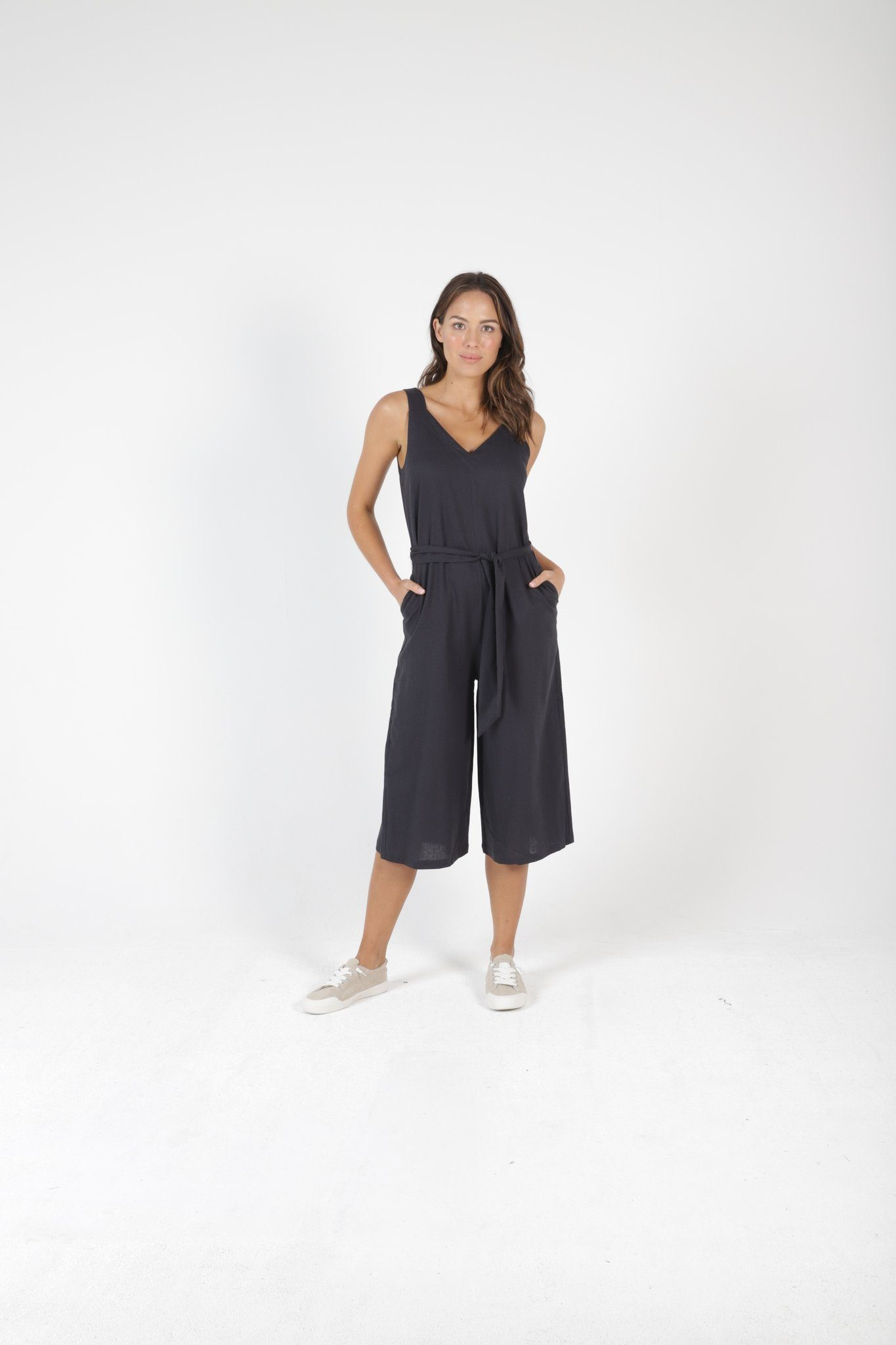 Betty Basics - Joey Jumpsuit - Indi Grey Womens Betty Basics