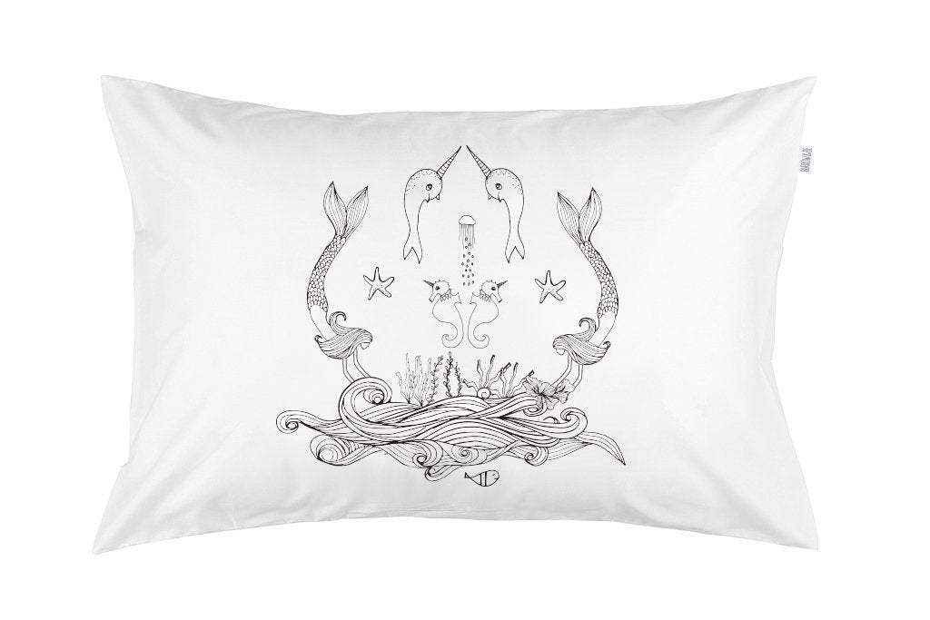 Burrow&Be - Pillowcase - Mermaid Life Baby Burrow&Be