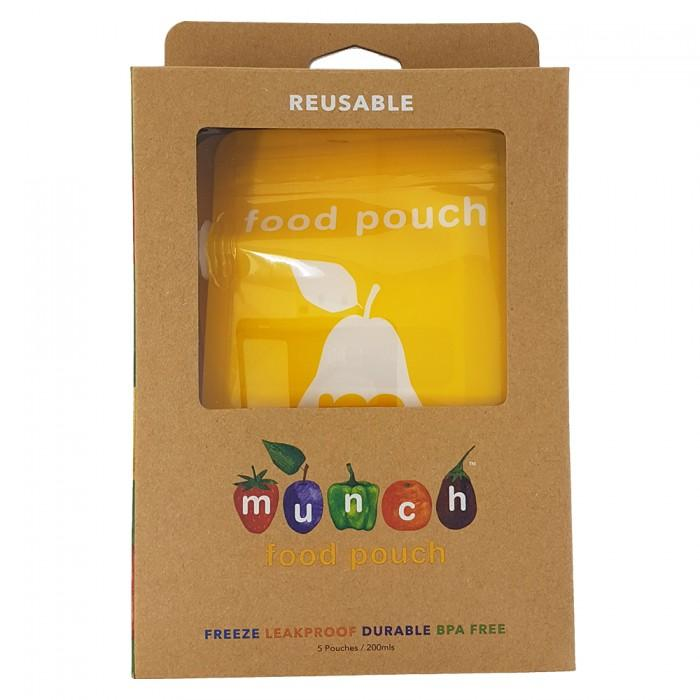 Munch - Reusable Food Pouch (5 pk) Meal Time Munch