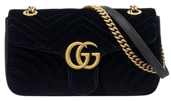 Gucci GG Marmont Black Velvet - Iconics Preloved Luxury