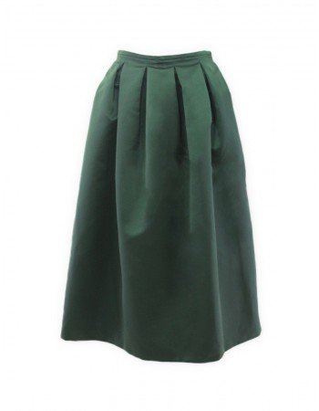 Rochas green pleated skirt