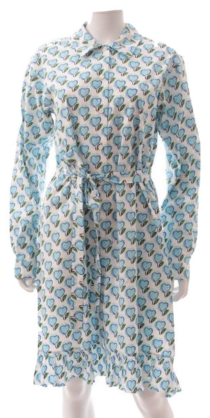 Prada Heart Print Shirt dress, 40