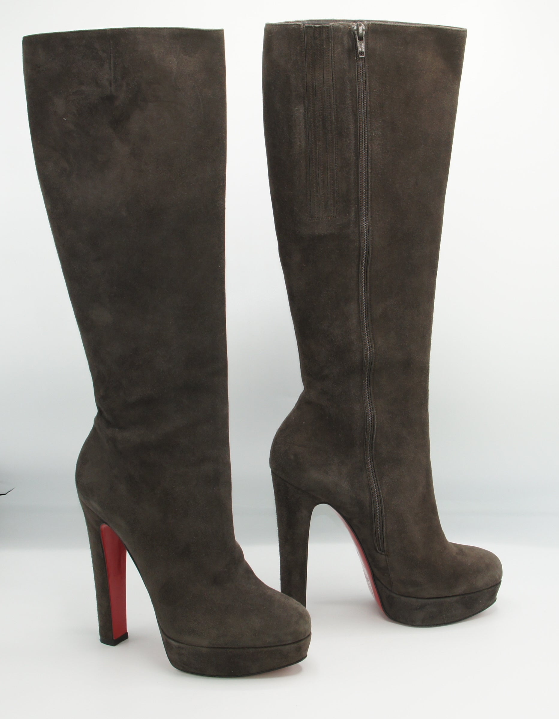 Christian Louboutin suede boots, 39 - Iconics Preloved Luxury