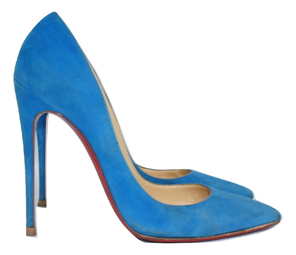 Christian Louboutin So Kate Blue Suede, 38,5 - Iconics Preloved Luxury