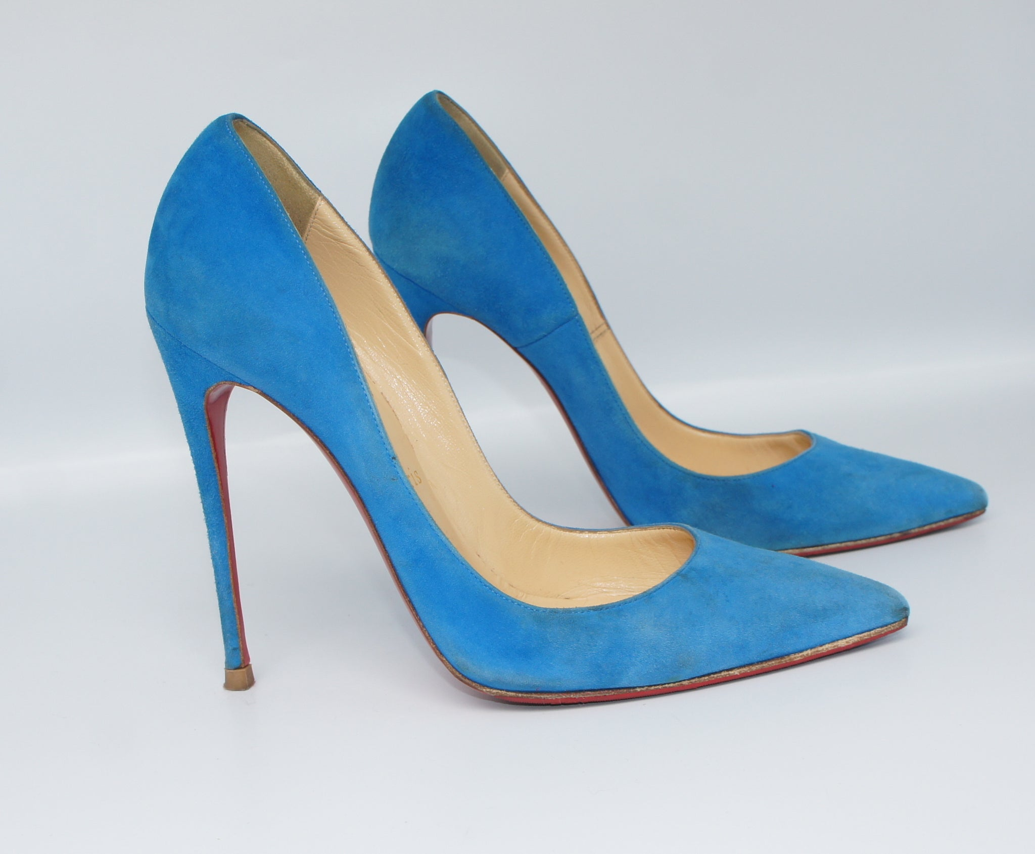 finest selection d9c2f dde21 Christian Louboutin So Kate Blue Suede, 38,5
