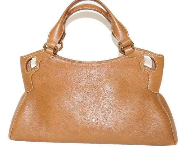 Cartier Marcello bag in brown leather - Iconics Preloved Luxury