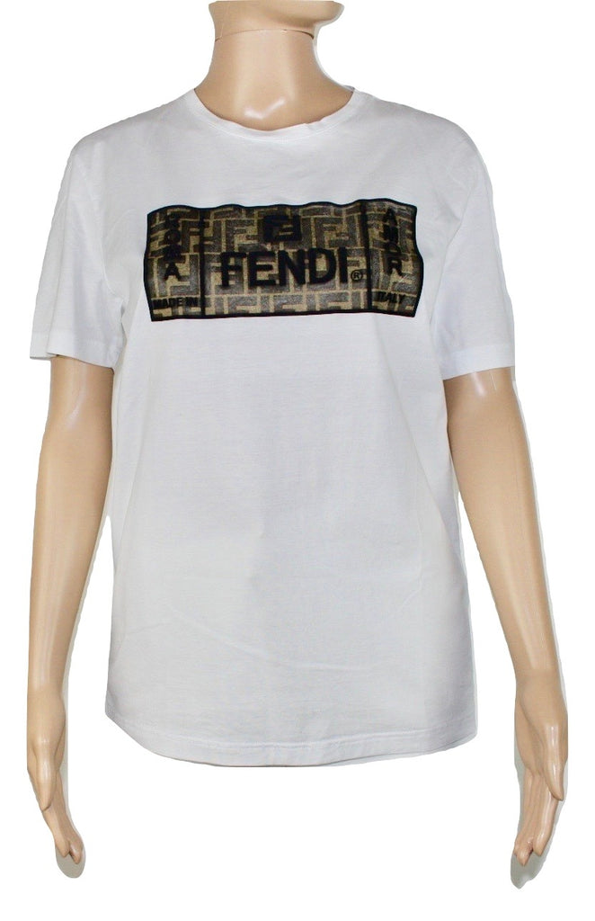 Fendi White T-Shirt,M - Iconics Preloved Luxury