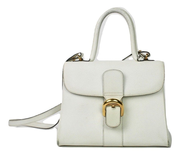 Delvaux Le Brillant MM White - Iconics Preloved Luxury
